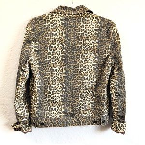 ATM Anthony Thomas Melillo Jackets & Coats - ATM Leopard Print Denim Jacket